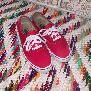 Red lace up vans